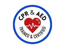 CPR & AED Certified Badge