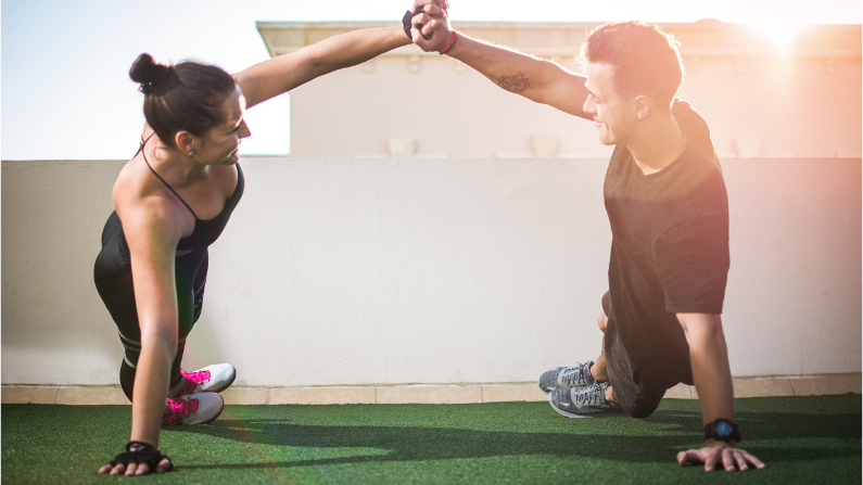 Fitness Couple Supporting Each Other